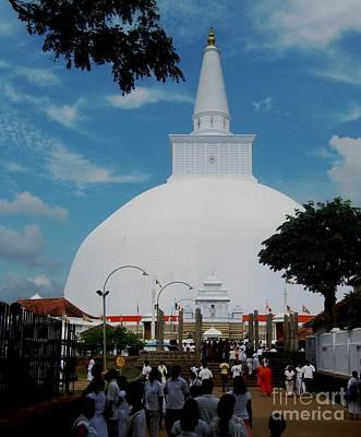 Ruwanweliseya Stupa Poster by Surendra Silva