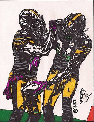 Ryan Clark And Ike Taylor Poster by Jeremiah Colley
