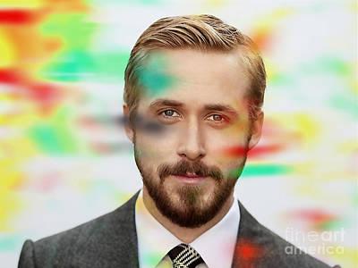 Ryan Gosling Painting Poster