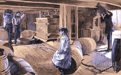 Rye Cider Mill 1879 Poster by Padre Art