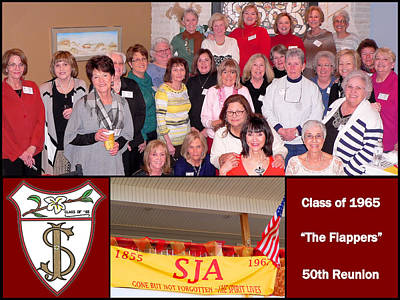 S J A Reunion Collage Flappers Poster
