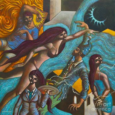 Sa Lalim Ng Gabi In The Depths Of The Night Poster by Paul Hilario