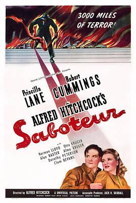 Saboteur, Robert Cummings, Priscilla Poster by Everett