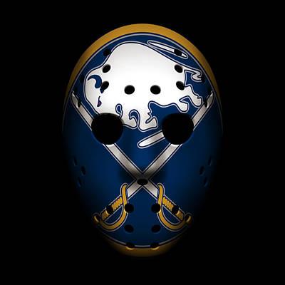 Sabres Goalie Mask Poster by Joe Hamilton