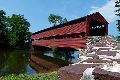 Poster featuring the photograph Sachs Covered Bridge by Cindy McDaniel