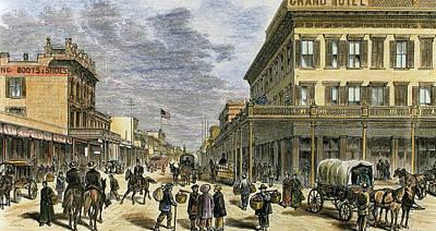 Sacramento In 1878 Poster