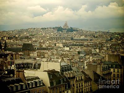 Sacre-coeur And Roofs Of Paris. France.europe. Poster by Bernard Jaubert