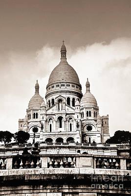 Sacre Coeur Basilica In Paris Poster by Elena Elisseeva