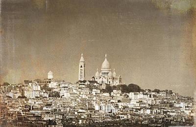 Sacre Coeur Basilica Of Montmartre In Paris Poster