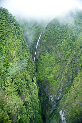 Sacred Falls - Hawaii Poster by Sean Davey