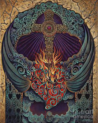 Sacred Heart Poster by Ricardo Chavez-Mendez