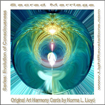 Sacred Marriage Gift Card Poster by Norma L Lloyd