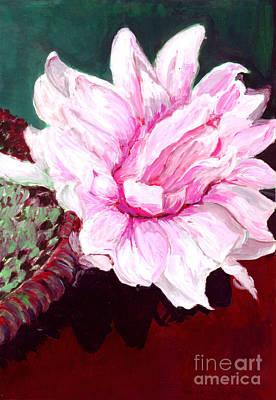 Sacred Pink Lotus  Poster by Mukta Gupta