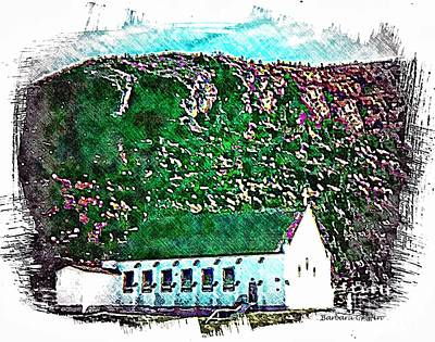 Sacret Heart Church Poster by Barbara Griffin