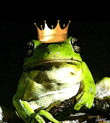 Sad Frog Prince - Digital Watercolor Print Poster