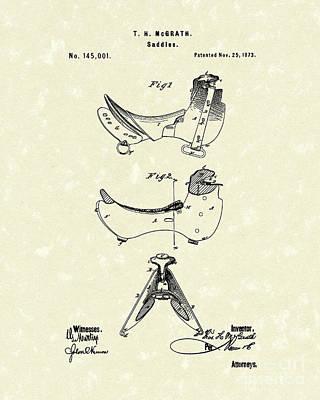 Saddle 1873 Patent Art Poster