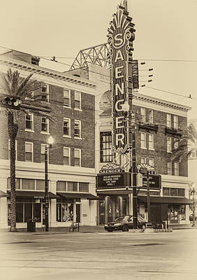 Saenger Theatre New Orleans Sepia Poster