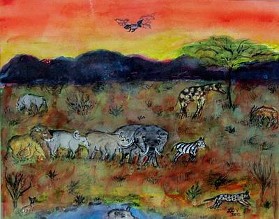 Safari In The Masia Mara Poster