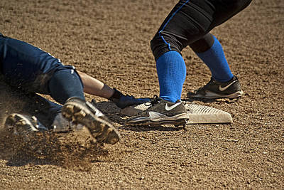 Safe At 3rd Poster by Dale Stillman