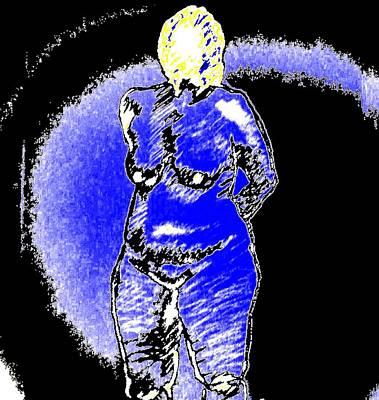 Safe Blue Woman Poster