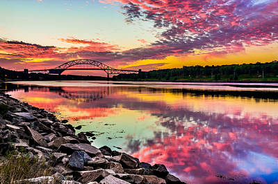 Sagamore Bridge Sunrise Poster