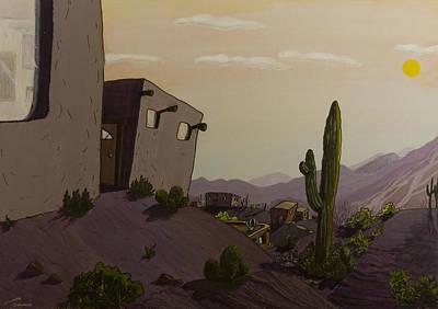 Saguaro Sunset Poster