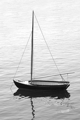 Sail Boat In Maine Poster by Mike McGlothlen