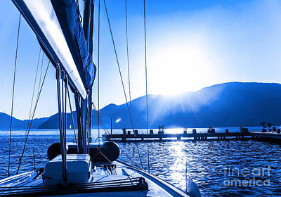 Sail Boat On The Water Poster by Anna Om