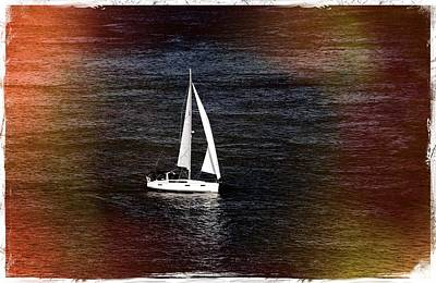 Sail Boat - Photograph Fine Art Print Poster by Laura Carter