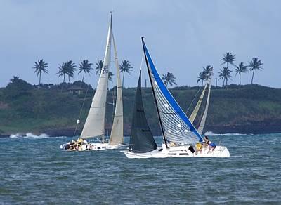 Sail Boat Race Poster by Bonita Hensley