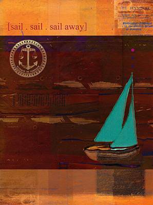 Sail Sail Sail Away - J173131140v3c4b Poster by Variance Collections