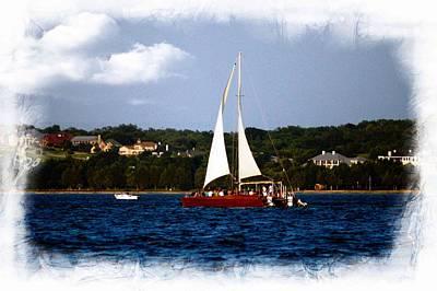 Poster featuring the photograph Sailboat At Lake Ray Hubbard by Kathy Churchman