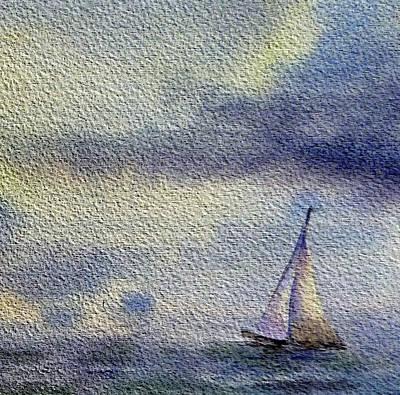 Sailboat At The Sea Poster