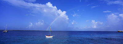 Sailboat Bonaire Netherlands Antilles Poster by Panoramic Images