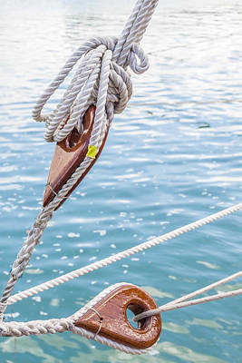 Poster featuring the photograph Sailboat Deadeyes 1 by Leigh Anne Meeks