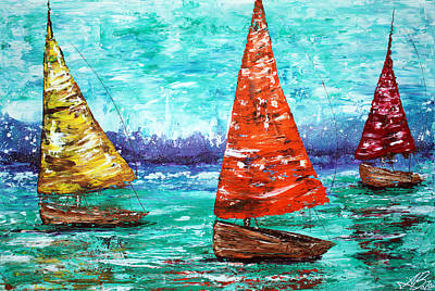 Sailboat Dreams Poster by Laura Barbosa