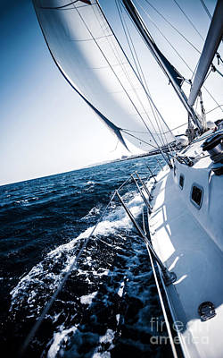 Sailboat In Action Poster