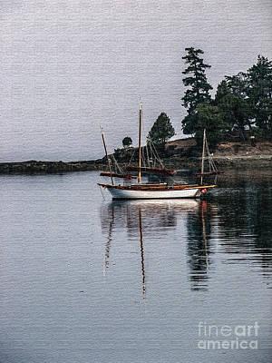 Sailboat In Watercolor Poster by Robert Bales