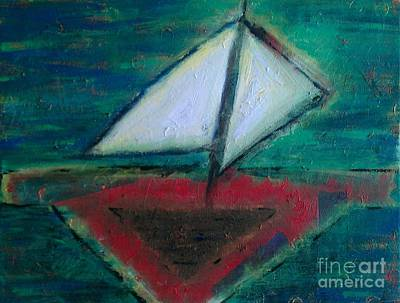 Sailboat Poster by Jacqueline McReynolds