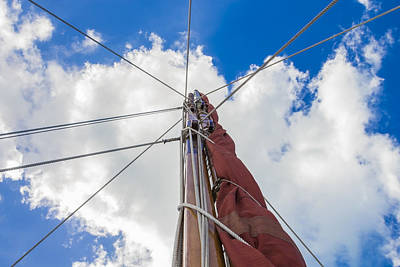 Sailboat Mast 1 Poster by Leigh Anne Meeks