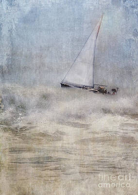 Sailboat On High Seas Poster