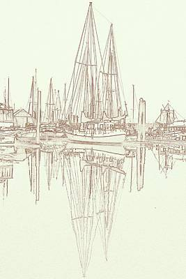 Poster featuring the photograph Sailboat On Liberty Bay by Greg Reed