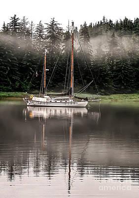 Sailboat Reflection Poster by Robert Bales