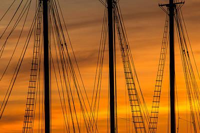 Sailboat Sunrise Poster by Steven Bateson
