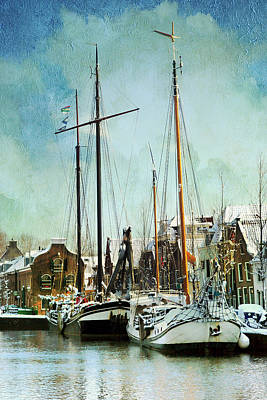 Sailboats Poster by Annie Snel