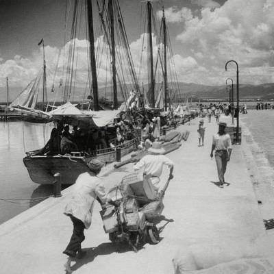 Sailboats In Haiti Poster by Cecil Beaton