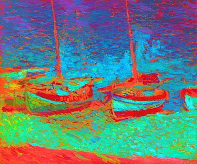 Sailboats In  Port Collioure Xi Poster by Henri Martin - L Brown