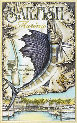 Sailfish Marina Poster by Mike Williams