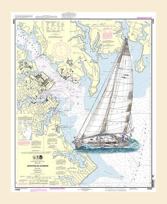 Annapolis Harbor Sailing Poster