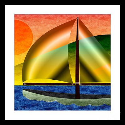 Sailing Around Hawaii Square Poster by Andee Design